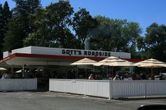 It's not much to look at, and on summer weekends the lines often run through the parking lot and down the street, but for a good reason: don't leave Napa Valley without a stop for a burger at Gott's Roadside in St. Helena.  Yes, it's that good.