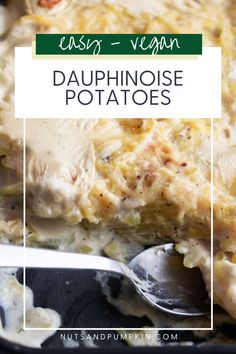 This quick vegan dauphinoise potatoes recipe is cheesy and pure comfort food. This vegan scalloped potatoes recipe is the perfect side dish to any vegan meal or main dish alongside a green salad or some steamed green vegetables. Vegan Scalloped Potatoes, Scalloped Potato Recipes, Cheesy Potatoes, Vegan Mozzarella, Latest Recipe, Just Cooking, Easy Weeknight Meals, Vegan Cheese, Going Vegan