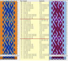 24 tarjetas, 3 colores, repite cada 16 movimientos // sed_645 diseñado en GTT༺❁