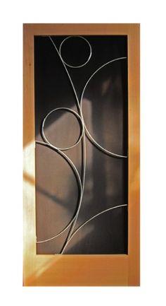 Modern facade on pinterest modern exterior garage doors for Modern screen door