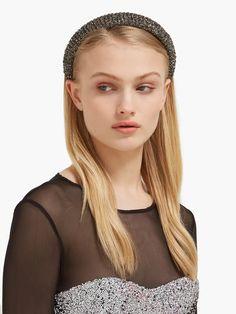 New Ladies Plain Crystal Studded Printed Alice Headbands Hair Accessories