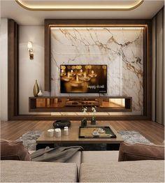 Modern Master Bedroom With Living Area - Qatar on Behance unit design modern living luxury unit design modern mounted tv Modern Master Bedroom, Tv In Bedroom, Living Room Modern, Living Room Interior, Living Area, Small Living, Living Rooms, Bedroom Decor, Bedroom Furniture