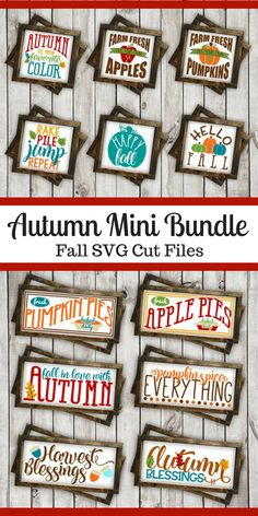 This Autumn bundle of svg cut files is perfect for Fall crafts using Cricut or Silhouette cutting machines to make vinyl decals. Use these SVG cut files for diy home decor for Fall and Thanksgiving decor. Fall Crafts, Halloween Crafts, Diy Crafts, Diy Cutting Board, Pumpkin Colors, Do It Yourself Projects, Thanksgiving Decorations, Thanksgiving Diy, Svg Cuts