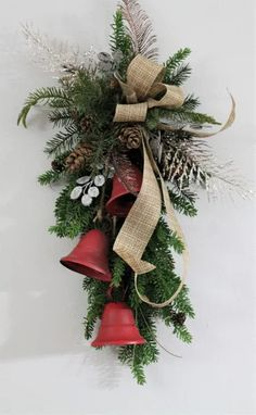 Are you looking for images for farmhouse christmas decor? Browse around this website for very best farmhouse christmas decor ideas. This particular farmhouse christmas decor ideas appears to be totally brilliant. Christmas Swags, Glass Christmas Ornaments, Outdoor Christmas, Christmas Bells, Christmas Wreaths To Make, Christmas Angels, Christmas Lights, Farmhouse Christmas Decor, Rustic Christmas