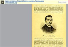 "A portrait of Irvin Starbird (1842-1897) of Preston, Wayne County, Pennsylvania. Source: Internet Archive. Read more on the GenealogyBank blog: ""Top Genealogy Websites Update: Internet Archive Book Images + Flickr."" http://blog.genealogybank.com/top-genealogy-websites-update-internet-archive-book-images-flickr.html"