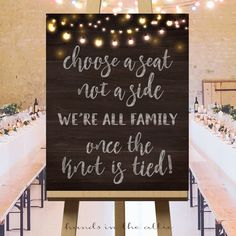 Choose a seat not a side, wedding ceremony seating sign, large wedding day signs, wooden background, fairy lights, DIGITAL download, PDF by HandsInTheAttic on Etsy https://www.etsy.com/listing/456363350/choose-a-seat-not-a-side-wedding
