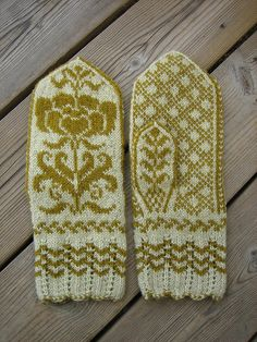 Mittens.  I want to get to this level by eowinter  skandinaviskt färgstickning mönsterstickning vantar blommor
