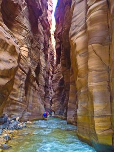 The Canyons of Wadi Mujib in Jordan.