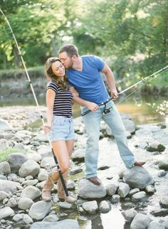 fishing inspired summertime engagement session Photo by Emily Steffen