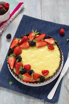 Crostata di frutta senza cottura Ricetta crostata senza burro e uova