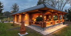 Cozy Log Cabin With Floor Plan