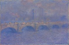 Waterloo Bridge, Sunlight Effect Claude Monet Fecha: 1903 Estilo: Impresionismo Serie: Waterloo Bridge Género: paisaje urbano Claude Monet, Winnipeg Art Gallery, Artist Monet, Waterloo Bridge, Bridge Painting, Monet Paintings, Art Japonais, Pierre Auguste Renoir, Edgar Degas