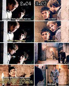 Ahhhh merlin and arthur :) Revenge is sweet! Merlin Show, Merlin Fandom, Merlin Cast, Merlin Funny, Merlin Memes, Merlin And Arthur, King Arthur, Bbc Tv Shows, Movies And Tv Shows
