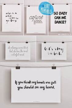 """Ann.Meer by Anna-Maria Dahms: Freebie: 6 free Printables I like: """"if you think my hands are full you should see my heart"""" BEST response!!!"""