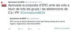 tweet de la ville de Barcelone
