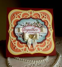 """Stampin up! and Spellbinders - Wedding Handmade """"Together Forever"""" card  NEW"""