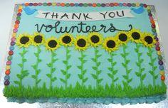 Cake for a volunteer appreciation picnic