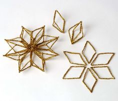 chenille stems give handcrafted ornaments a vintage feel