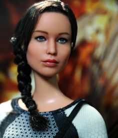 OOAK Mattel Hunger Games Katniss Everdeen Custom Doll Repaint by Noel Cruz | eBay