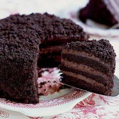 Crafty's Cafe: Chocolate Blackout Cake Recipe