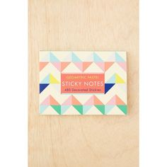 Geo Pastel Sticky Notes Set ($11) ❤ liked on Polyvore featuring home, home decor, stationery and multi