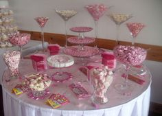 pink candy buffets wedding little silver hotel