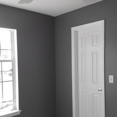 Done with painting...Color of my new home office... Seal Grey from Glidden color-matched to Behr paint at HD.