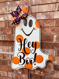 Your place to buy and sell all things handmade Halloween Door Hangers, Halloween Yard Art, Halloween Door Decorations, Halloween Signs, Outdoor Halloween, Halloween Projects, Fall Halloween, Halloween Wood Crafts, Fall Door Hangers