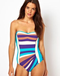 Marc By Marc Jacobs Pleated Maillot Swimsuit