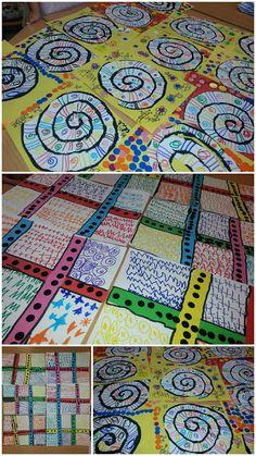 Mis cositas de infantil: NOS VAMOS DE VACACIONES Kindergarten Art Lessons, Art Education Lessons, Art Lessons Elementary, Art Drawings For Kids, Art For Kids, Arte Elemental, Newspaper Crafts, Collaborative Art, Preschool Art