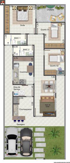 Casa 2 Quartos - 90.81m²
