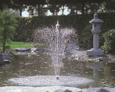 Designed for connection to a solar panel, these fountain pumps do not require mains electrical supply. Solar powered fountains are ideal for circulating and aerating smaller ponds and can also be used to provide water flow to Water Feature Pumps, Decorative Fountains, Marine Fish Tanks, Lawn Care Tips, Pond Pumps, Pond Filters, Small Waterfall, Fish Ponds, Small Ponds