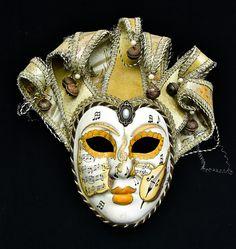 COLECIONISMO - Belíssima máscara originalmente venezian..