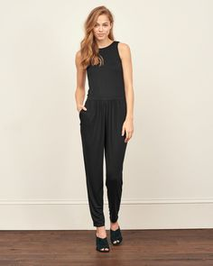 Womens Ladder Back Jumpsuit | Womens Dresses & Rompers | Abercrombie.com