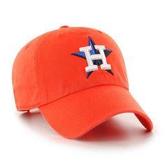 bff6b0406348e Houston Astros 47 Brand Orange Clean Up Adjustable Hat