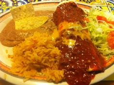 Smothered Burrito at Rosa's Cafe & Tortilla Factory in Amarillo TX