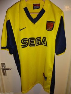 Vintage Retro Authentic Arsenal Nike Sega 1999 - 01 Football Soccer shirt XL bd57d255e2653