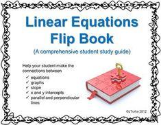 Linear Equations Flip Book
