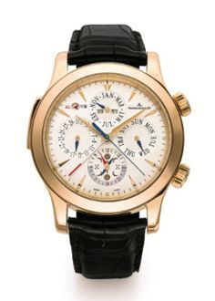 A PINK GOLD AUTOMATIC PERPETUAL CALENDAR WRISTWATCH WITH ALARM, MOON PHASES, 24 HOUR INDICATION AND CENTRE SECONDS CIRCA 2006 MASTER GRAND REVEIL