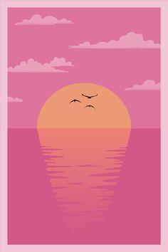 A vector sunset