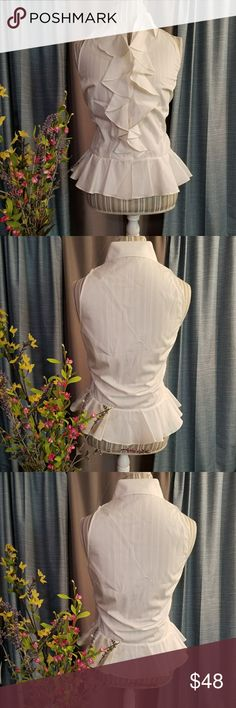 🌻🌺🌻RALPH LAUREN NWT RUFFLE BLOUSE!! SIZE:12   BRAND:Ralph Lauren   CONDITION:NWT   COLOR:White  Beautiful blouse...an eye catcher! Retail $80   🌟POSH AMBASSADOR, BUY WITH CONFIDENCE!   🌟CHECK OUT MY OTHER ITEMS TO BUNDLE AND SAVE ON SHIPPING!   🌟OFFERS WELCOME!   🌟FAST SHIPPING! Ralph Lauren Tops