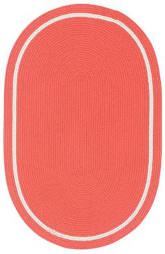 This melon oval shapped rug is part of the Made in America collection #capel_rugs