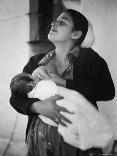 Pure breastfeeding bliss. 'Israeli Mother Breast Feeding Her Baby'. I love this photo so much!