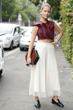 More proof that culottes and crop tops rule.
