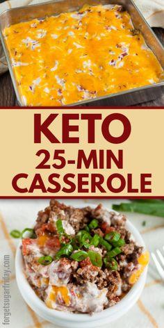 Ketogenic Recipes, No Carb Recipes, Diet Recipes, Cooking Recipes, Healthy Recipes, Kitchen Recipes, Recipies, Comida Keto, Keto Casserole