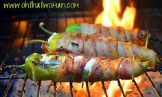 Bacon-wrapped Cheese-stuffed Chili Pepper With Anaheim Peppers, Cream Cheese, Bacon Stuffed Anaheim Peppers, Cheese Stuffed Peppers, Cheese Stuffed Chicken, Bacon Wrapped Poppers, Jalapeno Poppers, Chili, Bacon On The Grill, Chicken Recipes, Grilling