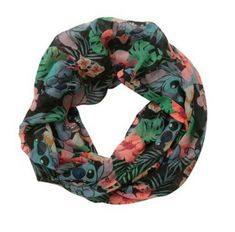 Lilo and Stitch Hibiscus Infinity Scarf
