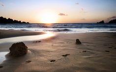 Ghajn Tuffieha Beach at sunset