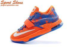buy popular 6dffb d09f3 Kevin Durant 7(VII) Online Store Orange Blue Athletic Shoes For Men Kevin  Durant