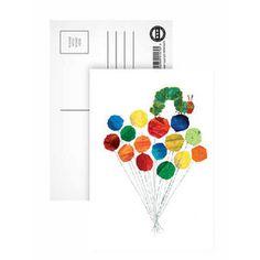 Caterpillar & Balloons Postcard